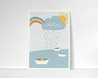 «Post card paper boats» Ahoy.»