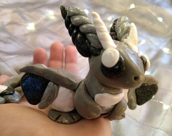 Polymer Clay Shadow Dragon!