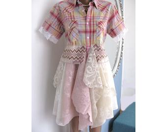 Gypsy cowgirl shirt/Fantastic top/boyfriend shirt/morigirl/festival top/crazy top/romantic top/warming colours
