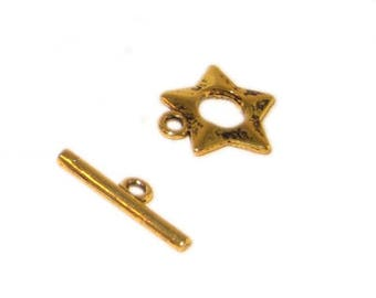 16 x 14mm Antique Gold Toggle Clasp