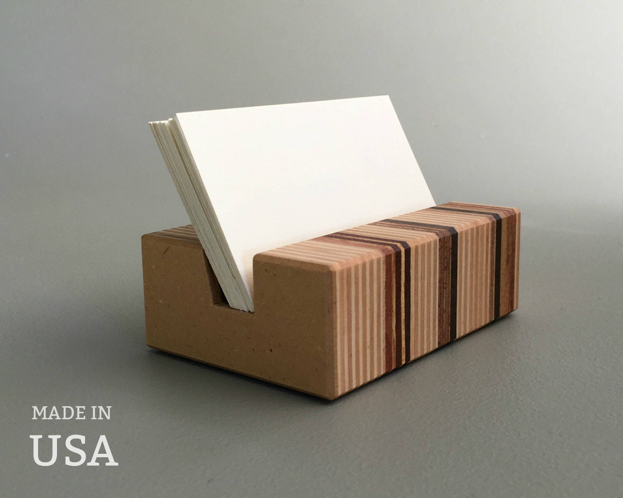 Wood Business Card Holder Modern Wood Holder for Business