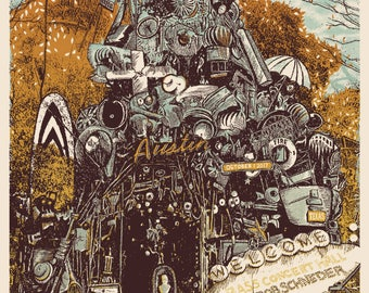 Official Wilco Screen Printed Poster Austin, TX 2017