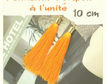 Silk thread tassel pendant individually sunflower gold 10 cm
