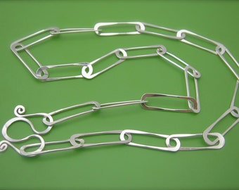 Paperclip Link Sterling Necklace