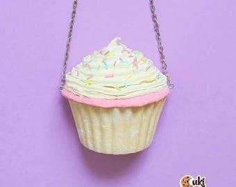 Vanilla Sprinkles Cupcake BAG / PURSE / CLUTCH - custom handmade bags, cupcake bags, cupcake purses, cupcake purse, handmade cupcake,