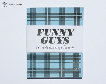 Funny Guys - A Mini Colouring Book - 4 x 5 in