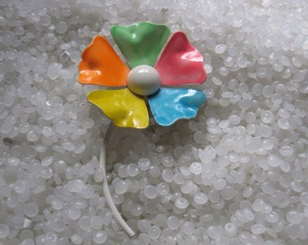 enamel flower brooch colorful flower