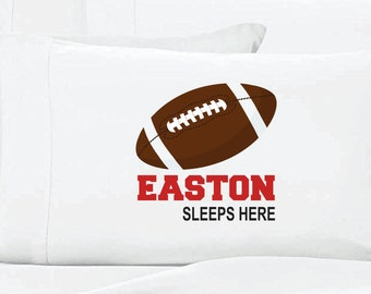 Personalized Football Pillow Case Sports Pillow Case
