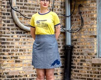 Lake Superior Skirt, Lake Superior Gift, Lake Superior Clothing, Great Lakes Gift, Great Lakes Skirt, Great Lakes Clothing, Duluth Skirt