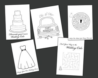 Wedding Coloring Pages - Party Favors Activities Gifts
