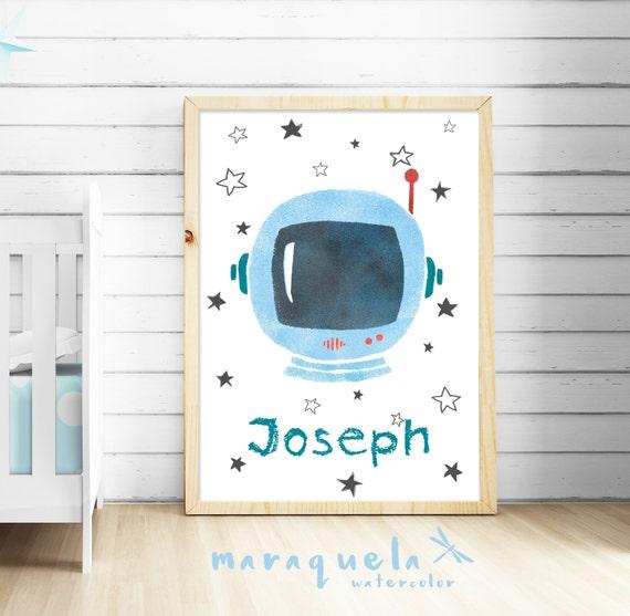 Casco Astronauta infantil personalizado / Nursery Astronaut Helmet personalizado