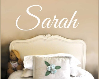 Personalized Custom Girl's Name Wall Decal, Teen Tweens or Baby Girls Room Wall Decor NM-139