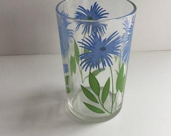 Vintage Swanky Swigs, Dark Blue Cornflower, Vintage Glassware, 1940s Glassware, Juice Glasses, Collectibles