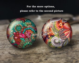 Flowers,Handmade Photo Glass Cabochon,Round cabochons,Cabs Cabochons,Image Glass Cabochon,glass cabochons,Dome cabochons