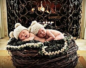 TWIN SIZE, Wood Branch Nest, Owl Nest, Bird Nest, Newborn Nest, Newborn Photography, Photo Prop