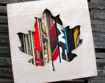 """12x12"""" Maple Leaf Shadow Box"""