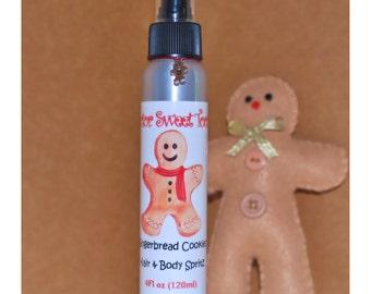 Gingerbread Cookies Body Splash and Hair Perfume 4oz