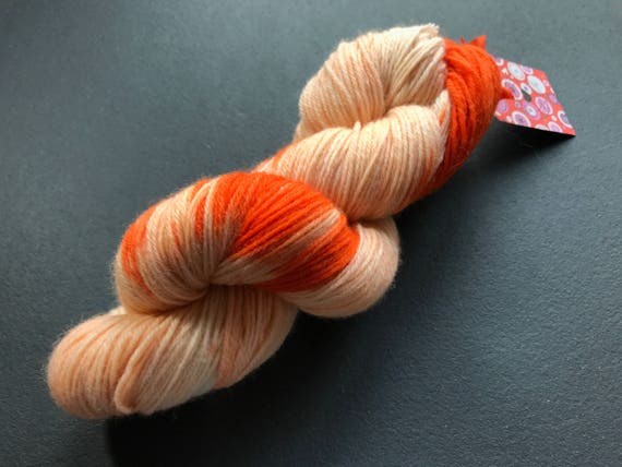 Hand dyed fine wool yarn 'King Bill' in all shades of orange