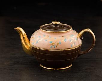 Pot de thé Vintage or bec