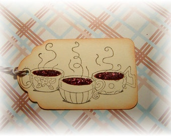 Coffee Time - Coffee Cup - Gift - Hang Tags (6)