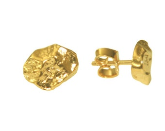 Silver Nugget Studs (925 Sterling Silver) v...