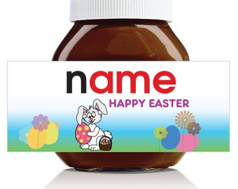 Personalised Easter Themed Label for 750g Nutella Jar!