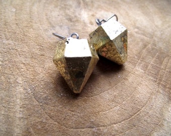 Earrings diamond concrete concrete Jewelry Diamond sheet metal