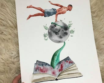 Prints, Full Moon Series, Universe