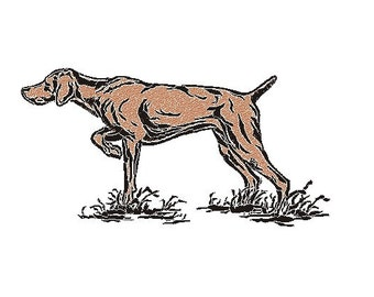 Hound embroidery design
