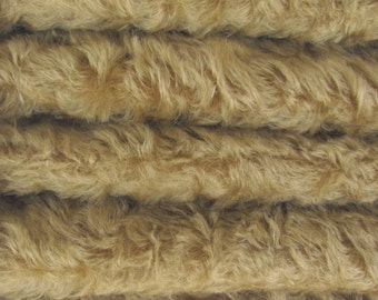 Quality 785S/C - Mohair - 1/3 yard in Intercal's Color 340S-Honey Tan. A German Mohair Fur Fabric for Teddy Bear Making, Arts & Crafts