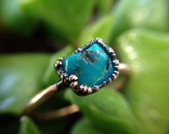 Turquoise   Turquoise Ring   Copper Ring   Mineral Ring   Turquoise Jewelry   Turquoise Stone   Ready-To-Ship