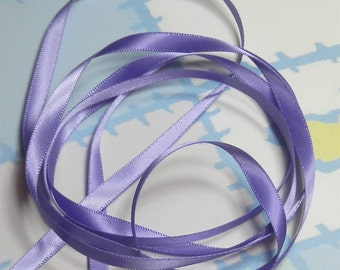 DELPHINIUM DouBLe FaCeD SaTiN RiBBoN, Polyester 1/4 inch wide, 5 Yards