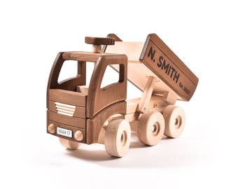 Baby Keepsake Gift, Child's Toy Truck, Personalised Wooden Toy, Christening Toy Gift, Christmas Toy,