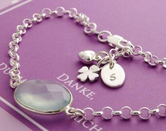 WEDDING mother groom bracelet, 925 Silver