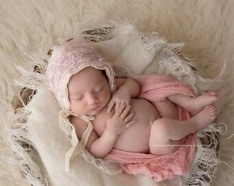 Newborn Baby Photo Prop Burlap Blanket Photography Prop Burlap Layering  Mini Burlap Blanket Basket Filler Basket Stuffer
