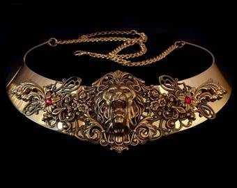 Medieval Lion Necklace - Cersei Lannister - Leo - Middle Age - Renaissance Jewellery - Hear Me Roar - Great Gift for Game of Thrones Fan
