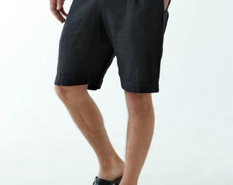 Mens linen shorts. Shorts for men. Summer shorts. Mans organic clothes. Beach shorts. Pink shorts. Gift for him. Natural shorts. jUp0wF