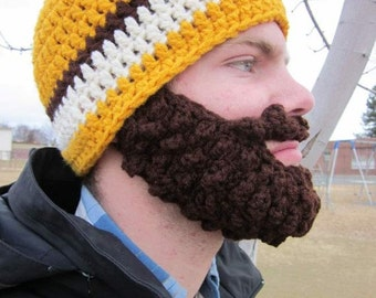 Adult ULTIMATE Bearded Beanie Gold Mix
