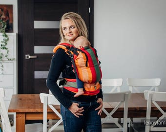 Ergonomic baby carrier, grows with baby, ajdustable, wrap conversion, babywearing, ergo, baby shower, LennyUp AUTUMN