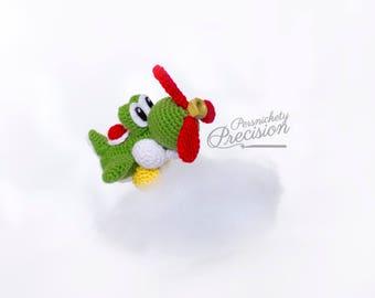 Crochet Airplane Yoshi amigurumi (Yoshi's Woolly World)