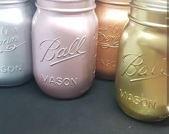 Mason jar metallics