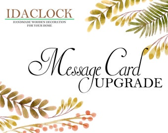 Order Upgrade, Message Card - Personal message