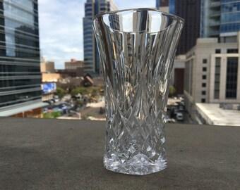 Mid Century Crystal Vase
