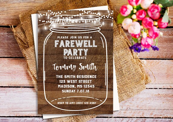 Farewell party invitation farewell invitation farewell party stopboris Image collections
