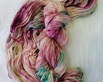 Rose Garden, Aran/Worsted, 100% Superwash Merino, 181 yards/100g, 19.5 micron, hand dyed yarn, indie dyed yarn