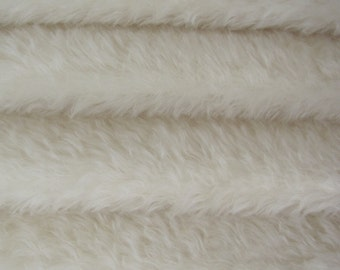 Quality 610S/C - Mohair - 1/4 yard (Fat) in Intercal's Color 100-White. A German Mohair Fur Fabric for Teddy Bear Making, Arts & Crafts