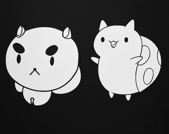 PuppyCat and Catbug Decal