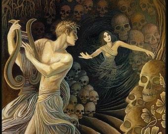 Orpheus and Eurydice Greek Mythology Original Oil Painting