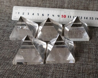 Extra Large Best Clear Quartz Pyramid/Clear Crystal Pyramid(Width Size:30mm,40mm,50mm,60mm,70mm,80mm,90mm,100mm,Custom Size)