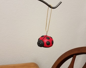 Ceramic Lady Bug Ornament (#845) Red